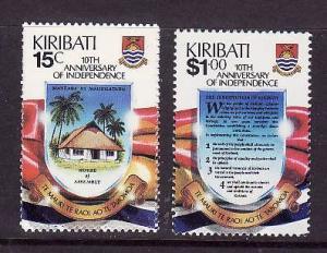 Kiribati-Sc#515-16-Unused NH set-Independence anniversary-1989-