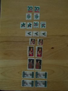 USED 1960's CHRISTMAS STAMPS