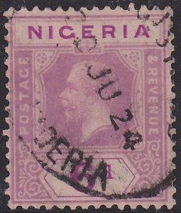 Nigeria, King George V, Sc 28 Die II, Used