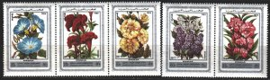 Syria. 1977. 1372-76. flowers, flora. MNH.