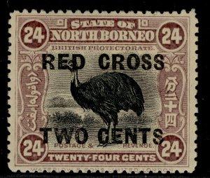 NORTH BORNEO GV SG226, 24c + 2c mauve, M MINT. Cat £22.