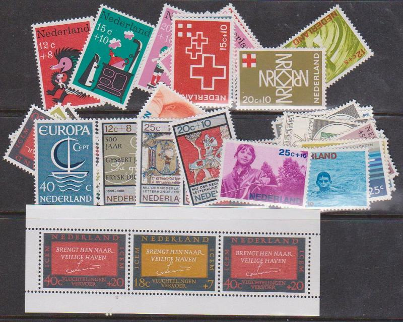 Netherlands 1966-7 Commemoratives & Semi-Postals Complete (38) NH