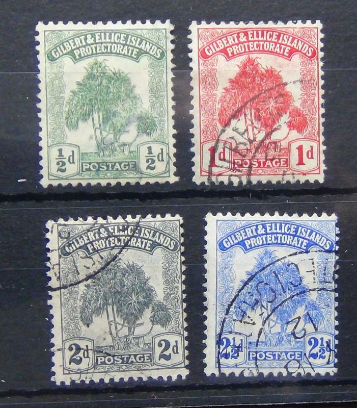 Gilbert & Ellice 1911 set complete to 2.5d Fine Used SG8/11 Cat £55