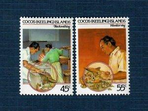 Cocos Islands 127-28 MNH Crafts (SCV $1.95)