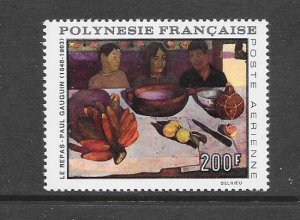 FRENCH POLYNESIA #C48 ART-GAUGUIN'S THE MEAL   MLH