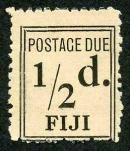 FIJI SGD5a Post Due 1917 1/2 black narrow setting Fine Unused Only 672 issued