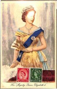 90122 - GB - Postal History - MAXIMUM CARD -  Queen ELISABETH II Royalty 1952