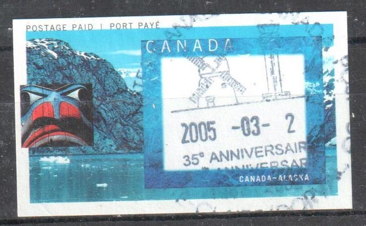 CANADA #1991D VF USED Extremelly rare *Alaska Cruise Picture Postage*