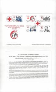 Isle of Man 403-07  International Red Cross Anniversary 1989  Official FDC
