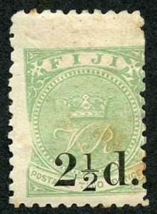 FIJI SG70 2 1/2d on 2d Green m/mint tone patched PRINTING ERROR