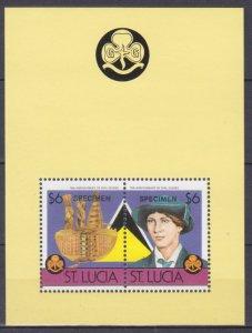 1986 St Lucia 832-33/B46 Scouts - overprint SPECIMEN