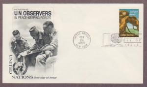 UN # 160 , Peace Keeping Observers on Cacheted FDC - I Combine S/H