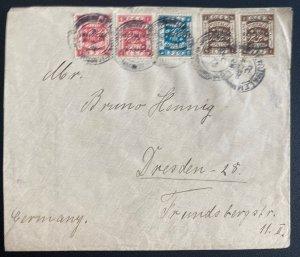1924 Jerusalem Palestine Palestine Cover To Dresden Germany
