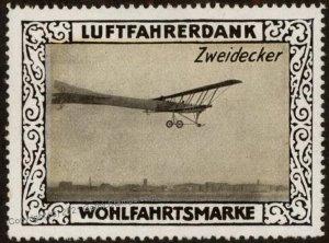 Germany Biplane Zweidecker WWI Air Force Luftfahrerdank Flight MNH  Cind G102822