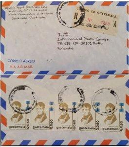 A) 1938, GUATEMALA, FROM COLONIA RENAISSANCE VILLA NUEVA TO FINLAND, AIRMAIL, RE