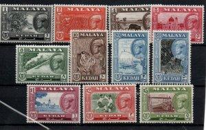 Malaya - Kedah 95-105 Set Mint Hinged