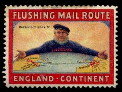 SM Zeeland Steamship Co - Flushing Mail Route Poster Stamp
