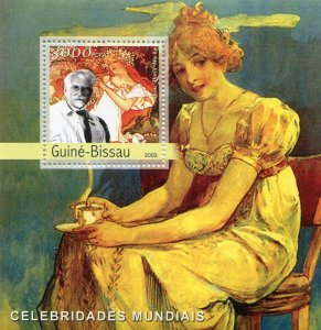 Guinea-Bissau 2003 ALFONS MUCHA Paintings s/s Perforated Mint (NH)