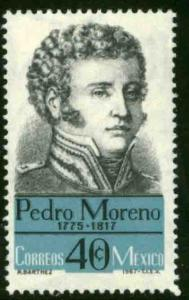 MEXICO 987, Pedro Moreno Hero War for Independence. MINT NH. VF.