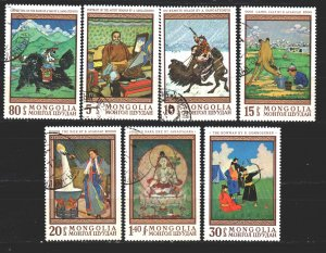Mongolia. 1968. 503-9. Painting, paintings. USED.