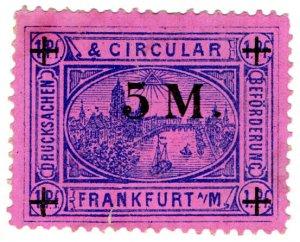 (I.B) Germany Local Post : Frankfurt 5m on 1pf OP