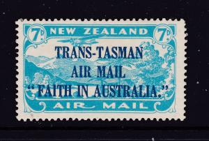 New Zealand the 1934 Trans Tasman Air stamp MH