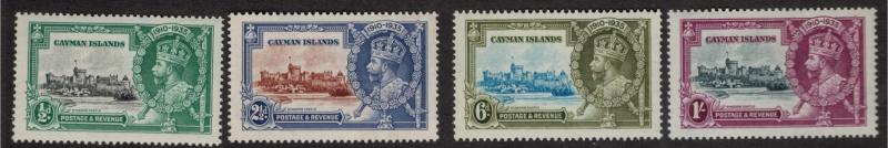 Cayman Islands Stamp Set Scott #81-4, Mint Hinged, Silver Jubilee - Free U.S....