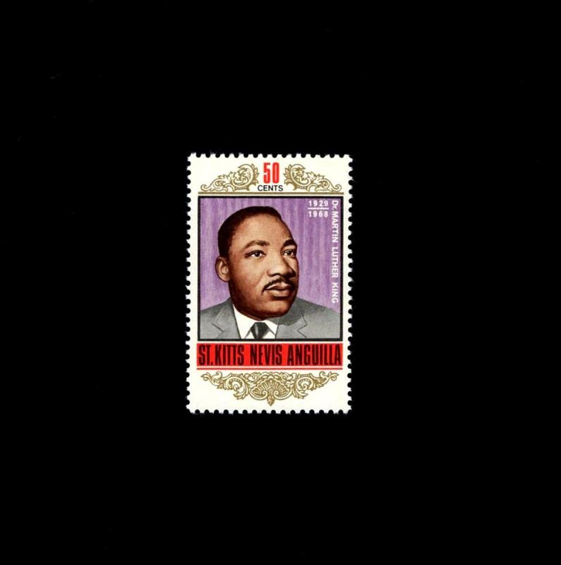 ST KITTS - 1968 - MARTIN  LUTHER  KING, JR - CIVIL RIGHTS - MINT - MNH SINGLE!