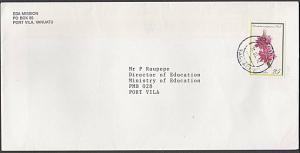 VANUATU 1992 25v orchid on local cover - Port Vila cds.....................55030