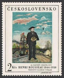 Czechoslovakia 1484,lightly hinged.Michel 1718. PRAGA-1968.Henri Rousseau.
