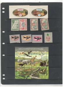 TONGA COLLECTION ON STOCK SHEET, MNH