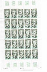 French Andorra 248 MNH folded sheet of 25, f-vf, see desc. 2020 CV$ 31.25