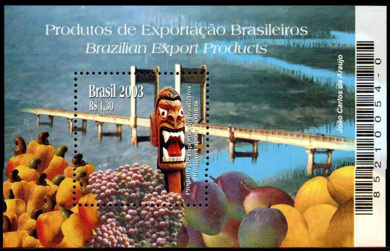 BRAZIL 2899 S/S MNH BIN $1.25 BRAZILIAN EXPORT PRODUCTS