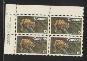 Canada MNH Plate Block Scott cat.#  732