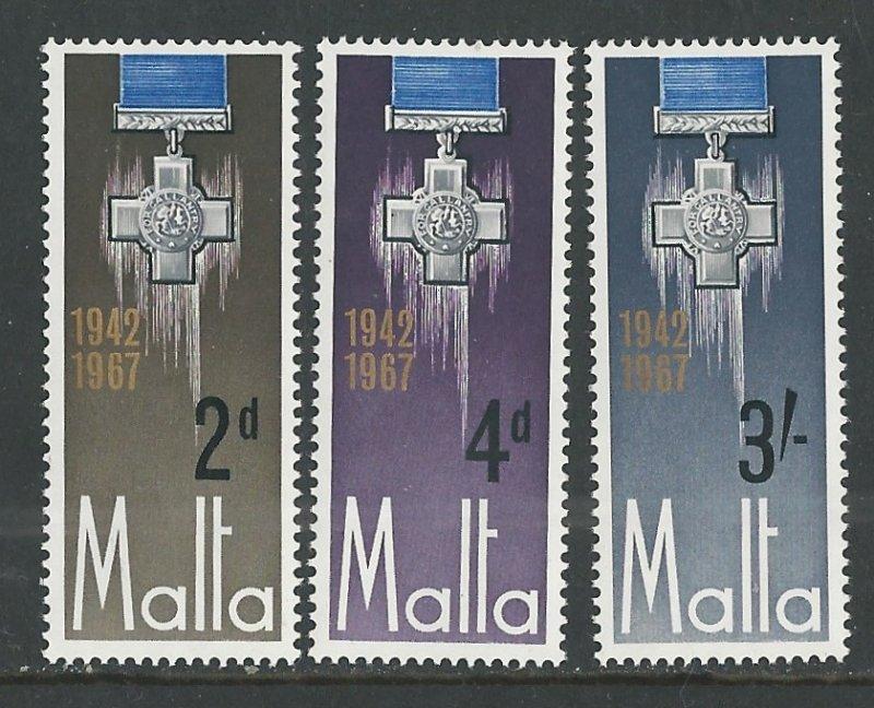 Malta # 361-63  George Cross Anniversary (3)  Mint NH