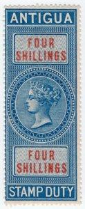 (I.B) Antigua Revenue : Duty Stamp 4/-