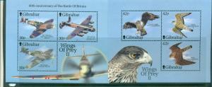 Gibralter - Sc# 889c-d. 2001 Fighters & Raptors. MNH SS $9.00..