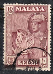 Malaya Kedah 1959 Sc 100a maroon color 10c Used