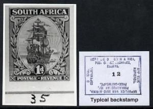 South Africa 1926-27 issue B&W photograph of original...