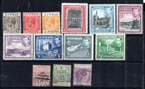Cyprus QV-KGVI mint and used collection WS13501