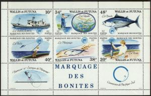 Wallis & Futuna 1979 Scott 228a Tuna Tagging by SPC S/S MNH