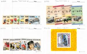 Lot of 74 Worldwide MNH Mint Never Hinged Automobile Stamps #115247 X R