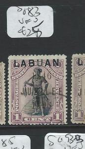 LABUAN (P2207B) 1C MAN  SG83   VFU