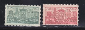 Brazil 774-775 MH Coats Of Arms