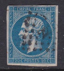France #15 F-VF four margins used Napolean III