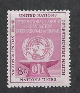 UNITED NATIONS - NEW YORK SC# 26 FVF/MNH 1954