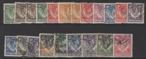 NORTHERN RHODESIA SG25/45 1938-52 DEFINITIVE SET OF 21 FINE USED