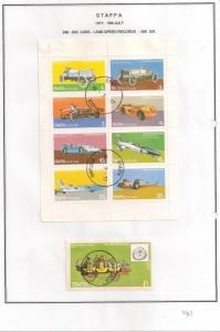 SCOTLAND - STAFFA - 1977 - Land Speed Records - Perf 8v, Souv Sheets - U L H