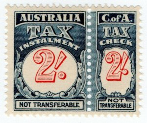 (I.B) Australia Revenue : Tax Instalment 2/-