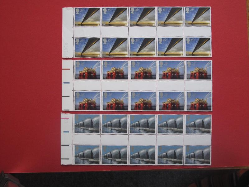 Lot #4430a Elizabeth II 1983 Engineering Gutter Pairs MNH SG1215-7